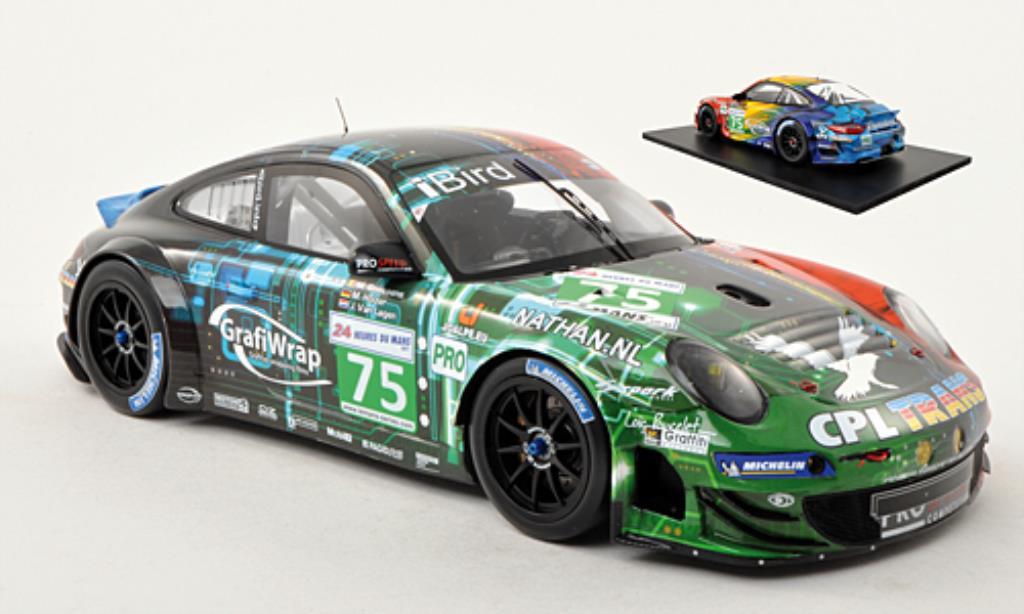 Porsche 997 GT3 1/18 Spark R No.75 ProSpeed 24h Le Mans 2011 /J.van diecast model cars