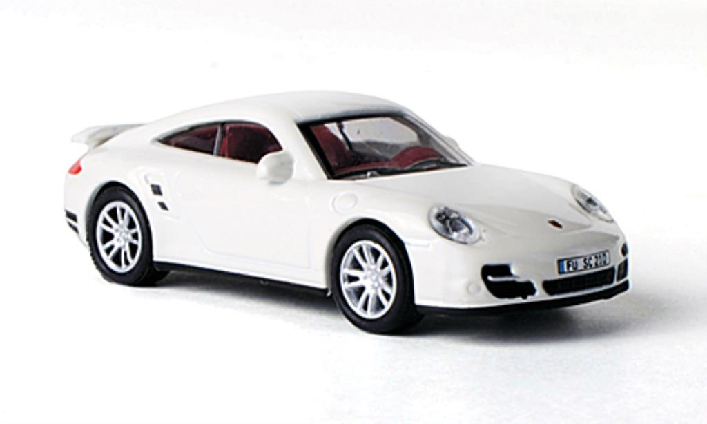 Porsche 997 Turbo 1/87 Schuco white diecast model cars
