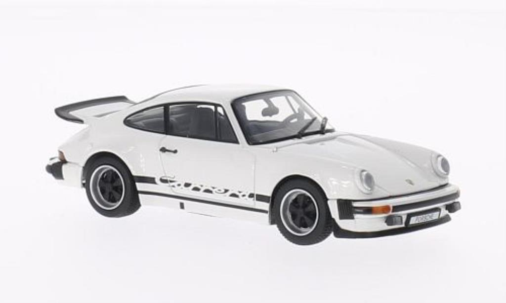Porsche 930 1/43 Kyosho Carrera 2.7 white mit blacker Dekoration 1975 diecast
