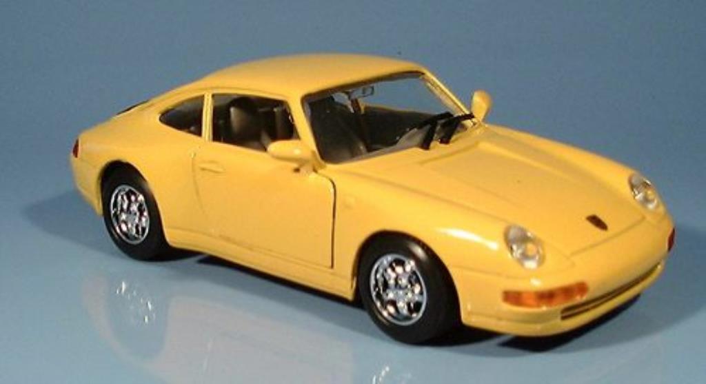 Porsche 993 Carrera 1/24 Motormax jaune miniature