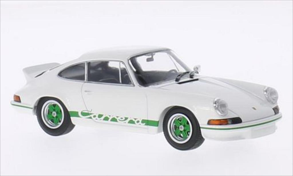Porsche 911 1/43 Minichamps Carrera  2.7 white/green 1973 diecast