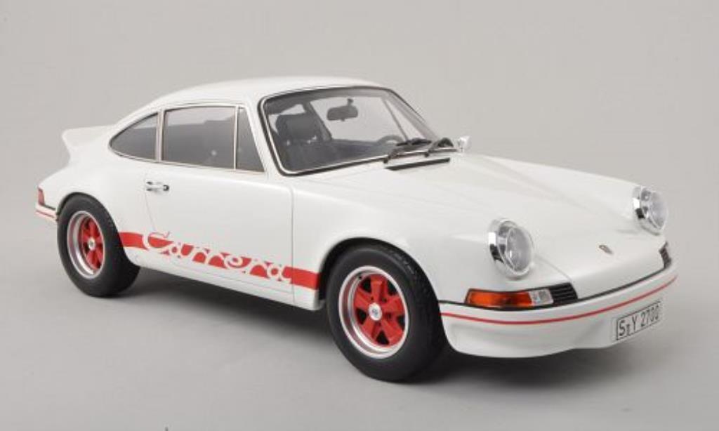 porsche 911 carrera rs 2 7 weiss rot 1972 mcw modellauto 1 12 kaufen verkauf modellauto. Black Bedroom Furniture Sets. Home Design Ideas