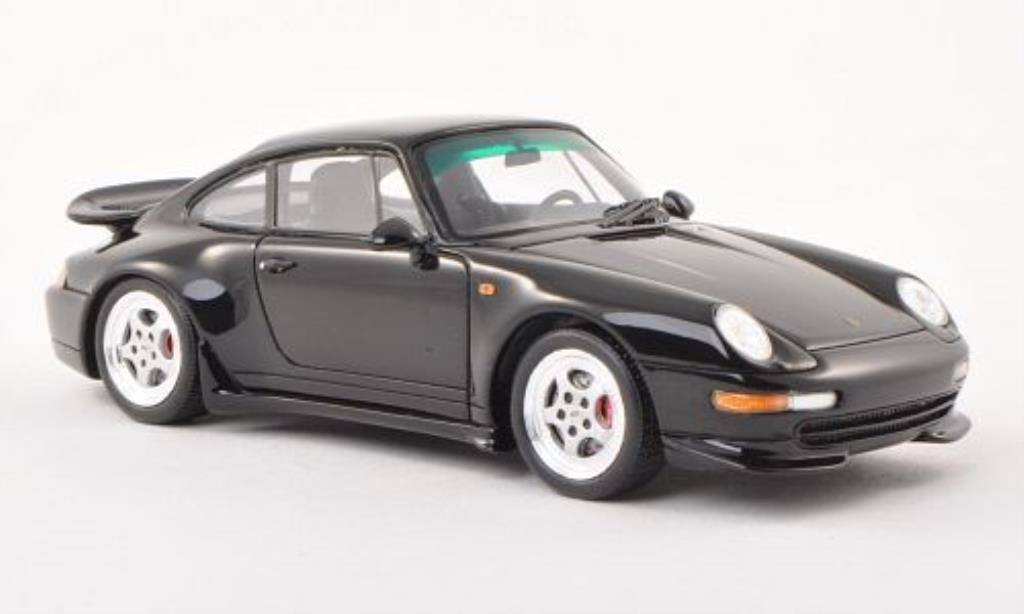 Porsche 993 Carrera 1/43 Spark  noire 1995 miniature