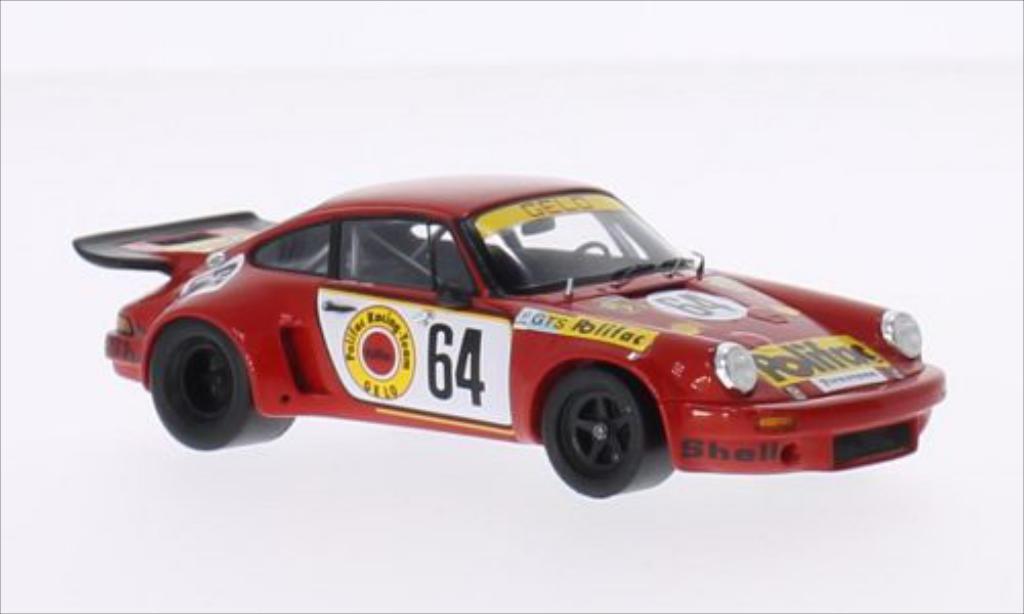 Porsche 930 1/43 Spark Carrera R No.64 Polifac Racing Team Polifac 24h Le Mans 1974 /J.Barth miniature