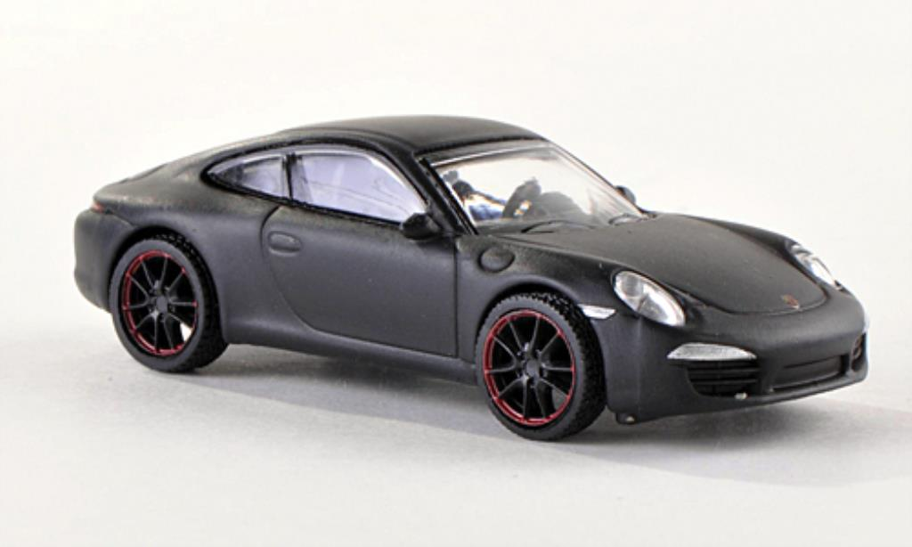 Porsche 991 S 1/87 Schuco Carrera matt-black diecast model cars