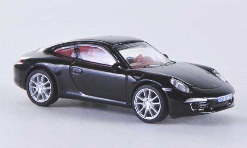 Porsche 991 S 1/87 Schuco Carrera black 2012 diecast model cars