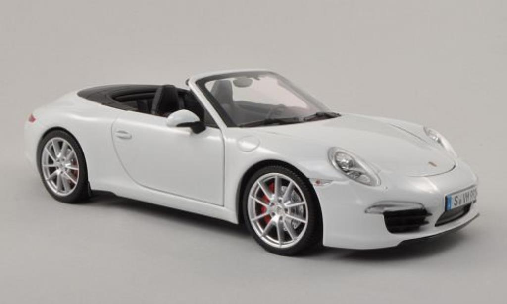 Porsche 991 S 1/18 Minichamps Carrera Cabriolet white diecast model cars