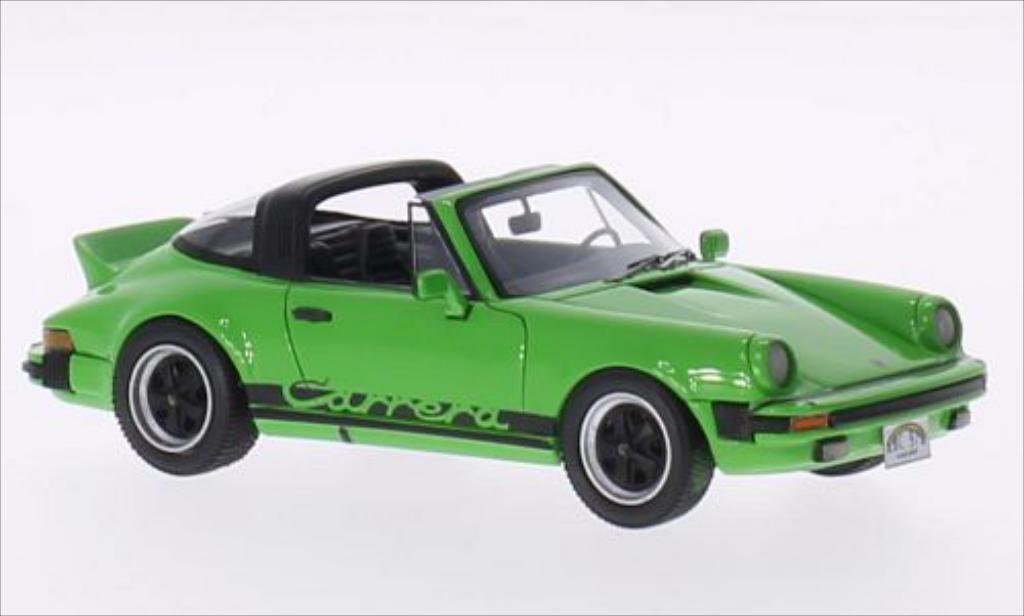Porsche 930 Targa 1/43 Neo Carrera grun/Dekor 1985 miniature
