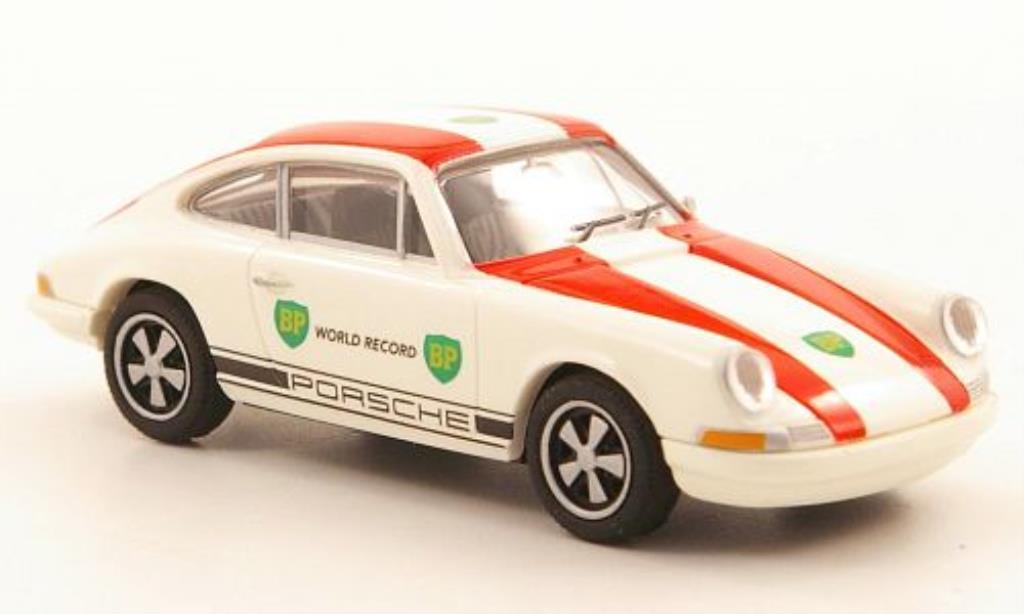 Porsche 911 1/87 Brekina Coupe BP World Record miniature
