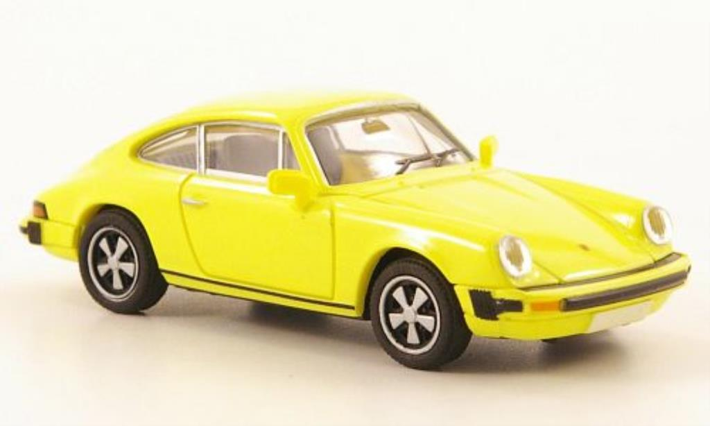 Porsche 911 1/87 Brekina Coupe (G-Reihe) yellow diecast model cars
