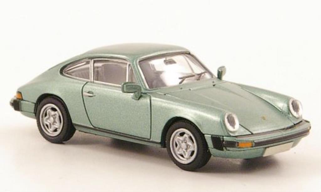 Porsche 911 1/87 Brekina Coupe verte-met.