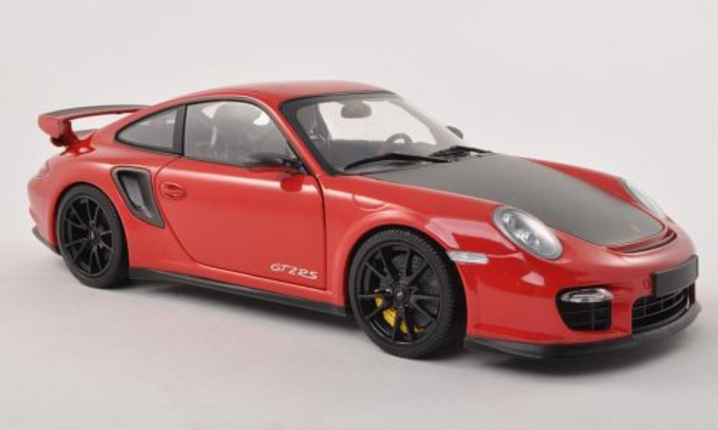 Porsche 997 GT2 1/18 Minichamps  rouge/carbon 2011 miniature