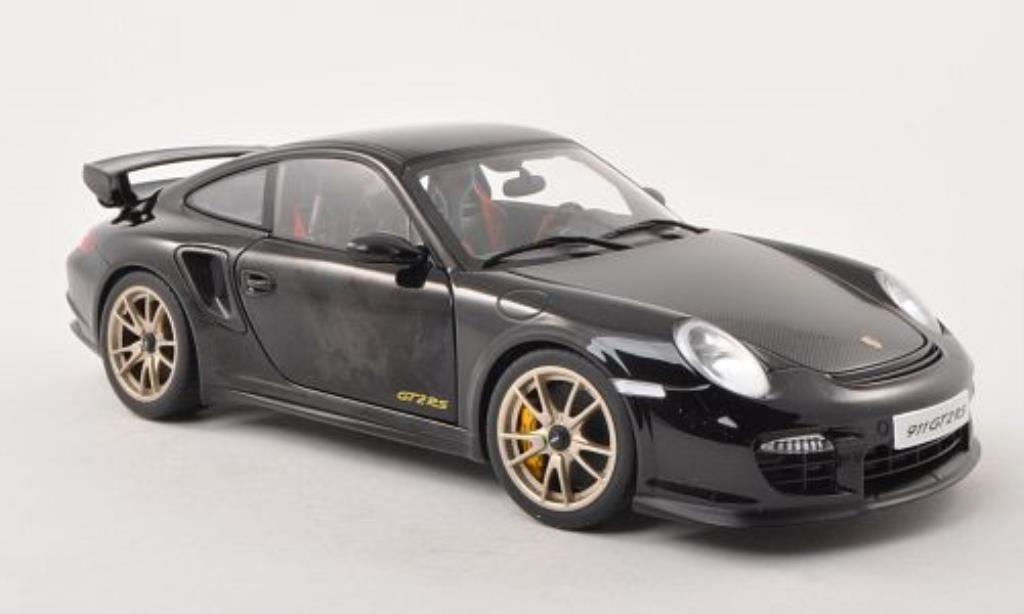 Porsche 997 GT2 1/18 Autoart black/carbon 2010 diecast model cars