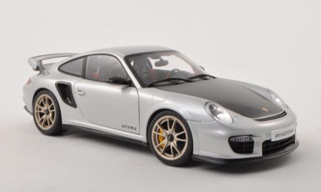 Porsche 997 GT2 1/18 Autoart grey/carbon 2010 diecast model cars