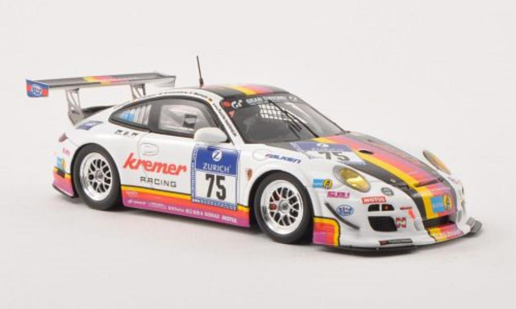 Porsche 997 GT3 CUP 1/43 Spark GT3 Cup No.75 Kremer Racing 24h ADAC Nurburgring 2013 /M.Kalandrik coche miniatura