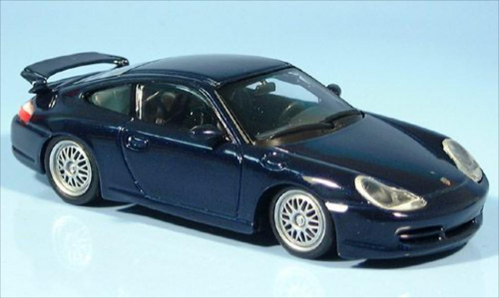 Porsche 996 1/43 Minichamps GT3 bleu 1999 miniature
