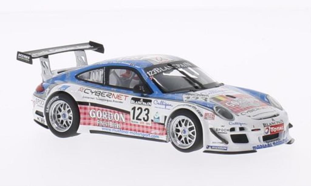 Porsche 997 1/43 Minichamps GT3 R No.123 Muehlner Motorsport 24h Spa 2011 /Lefort miniature