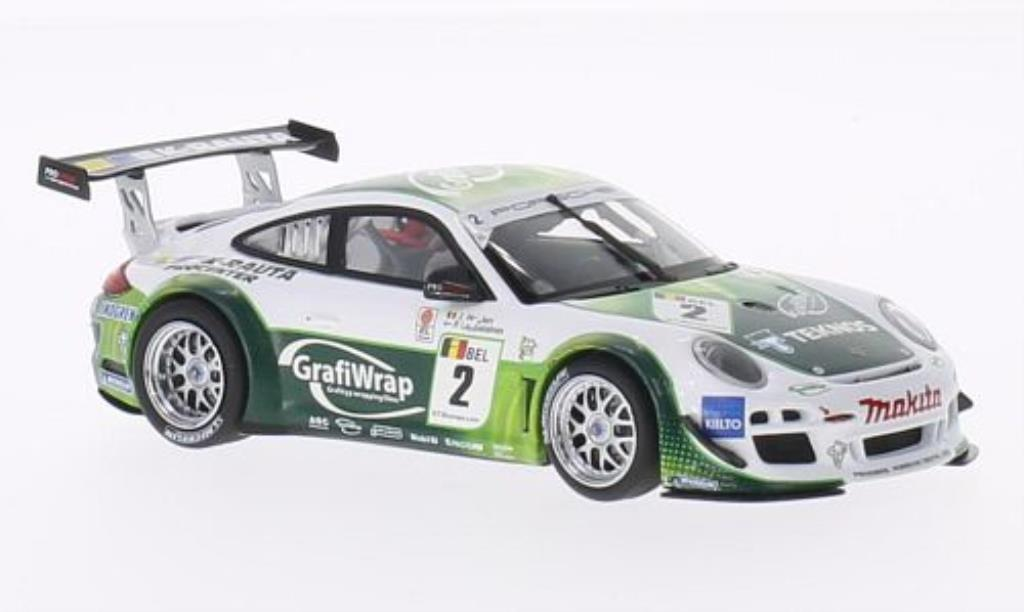 Porsche 997 GT3 1/43 Minichamps R No.2 Prospeed Competition FIA European Championship 2011 /Heylen diecast model cars