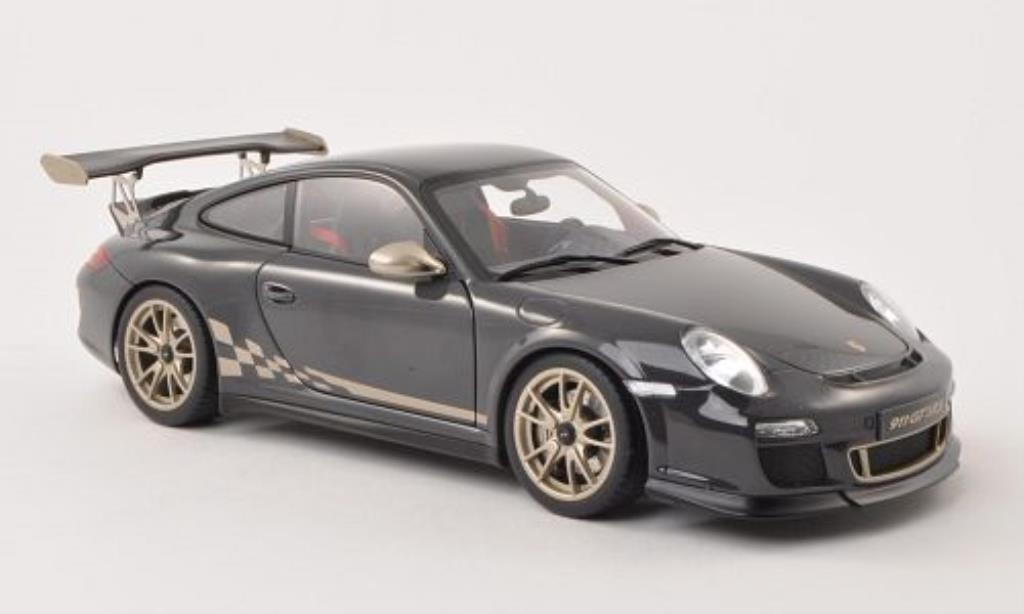 Porsche 997 GT3 1/18 Autoart 3.8 grey/gold 2010 diecast model cars