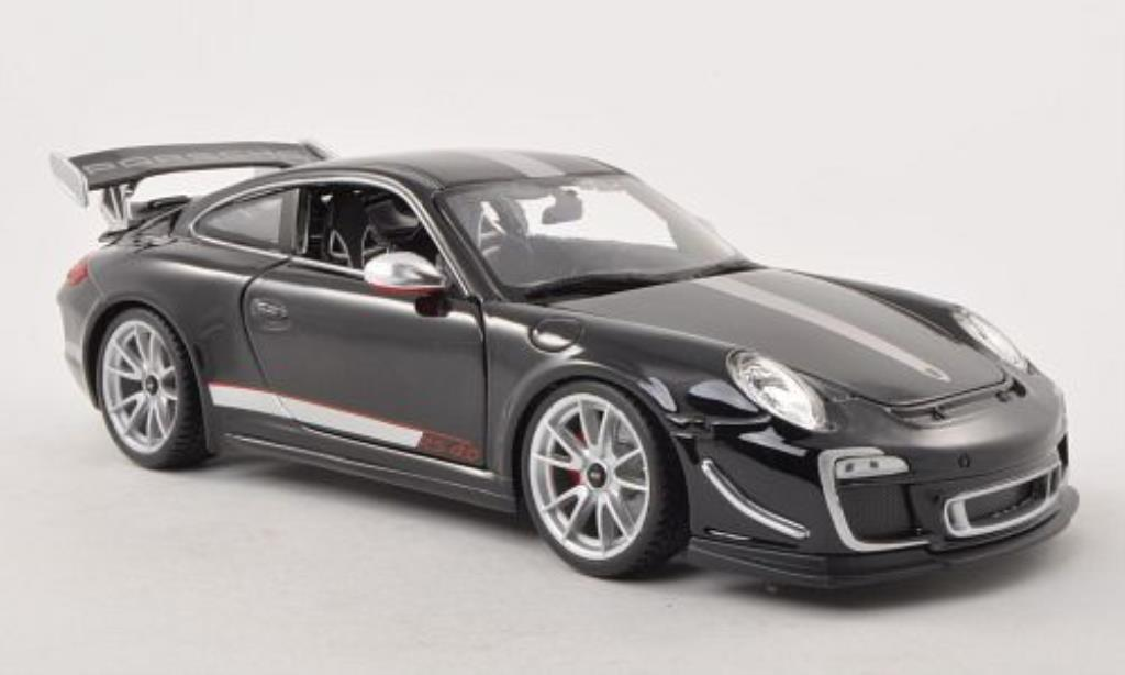 Porsche 997 GT3 1/18 Burago 4.0 black/grey 2011 diecast model cars