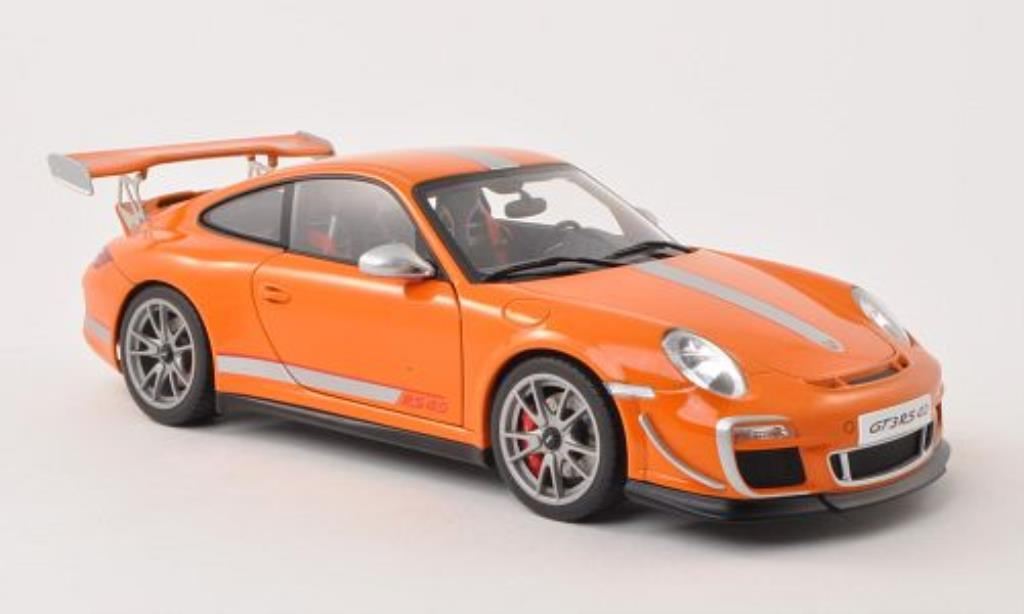 Porsche 997 GT3 1/18 Autoart 4.0 orange/grise 2011 miniature
