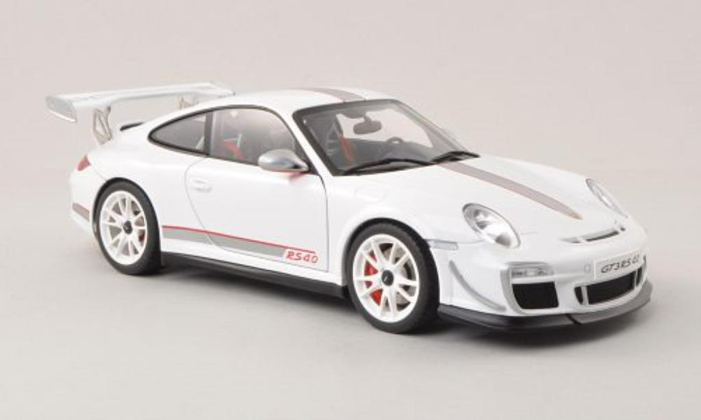 Porsche 997 GT3 1/18 Autoart 4.0 white/grey 2011 diecast model cars