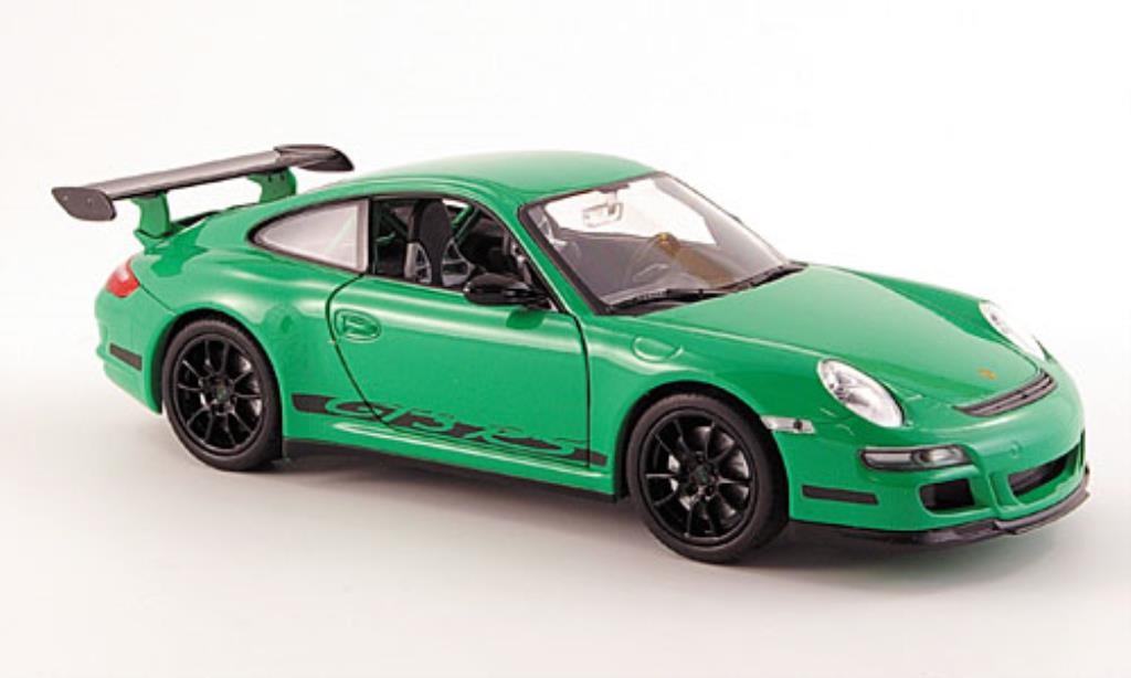 Porsche 997 GT3 1/24 Welly grun diecast model cars