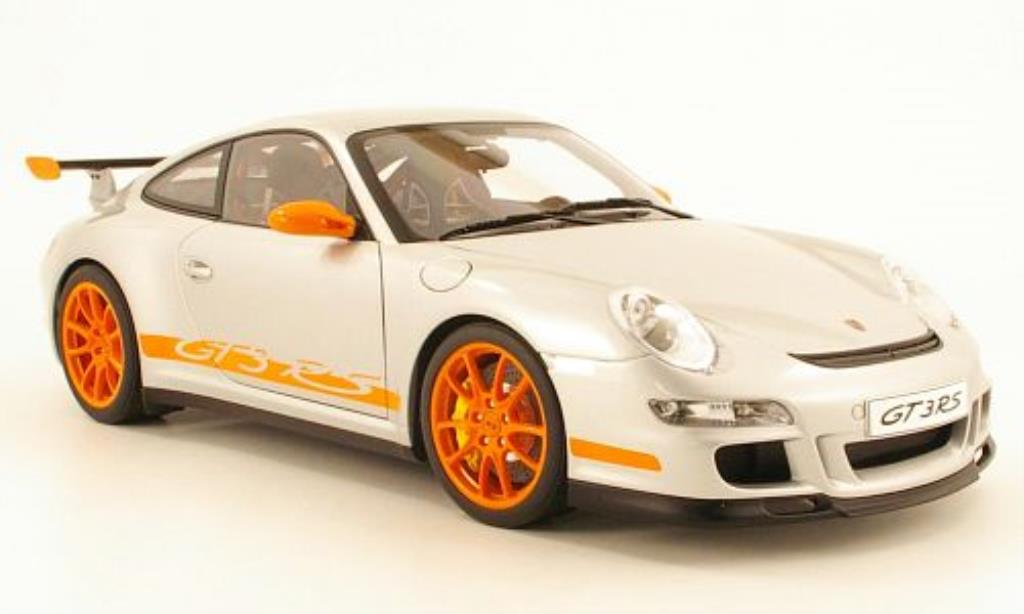 Porsche 997 GT3 1/12 Autoart  grise/orange 2006 miniature