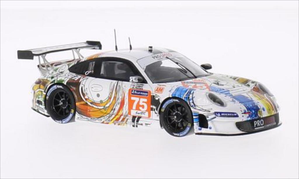 Porsche 997 GT3 1/43 Spark R No.75 Prospeed Competition Le Mans 24h Le Mans 2014 /M.Palttala coche miniatura