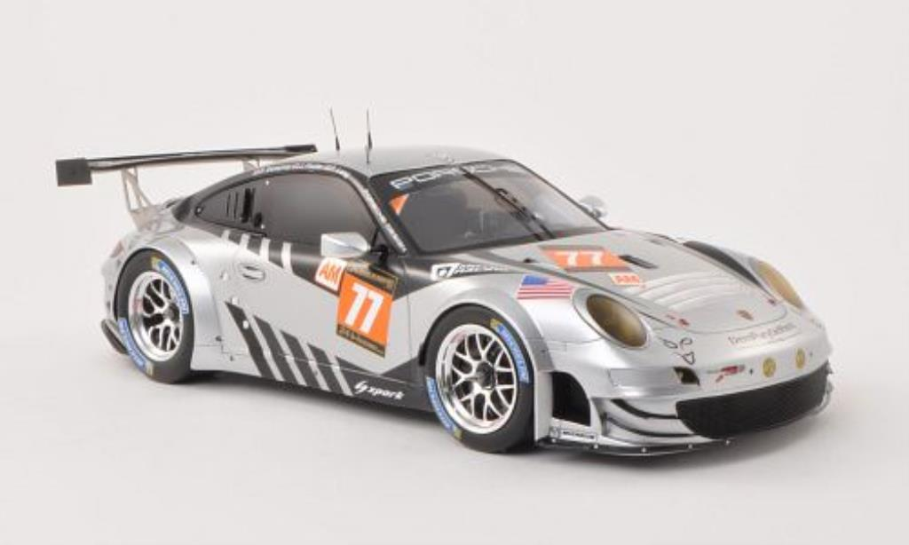 Porsche 997 GT3 1/18 Spark R No.77 24h Le Mans 2013 /P.Long diecast model cars
