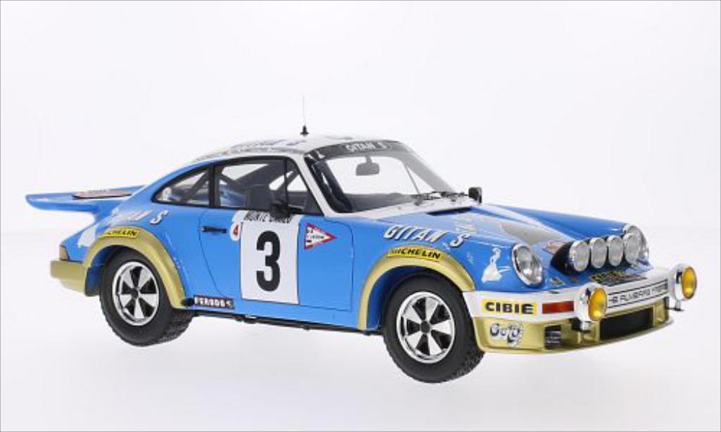 Porsche 930 1/18 Spark No.3 Gitanes Rallye Monte-Carlo 1978 miniature