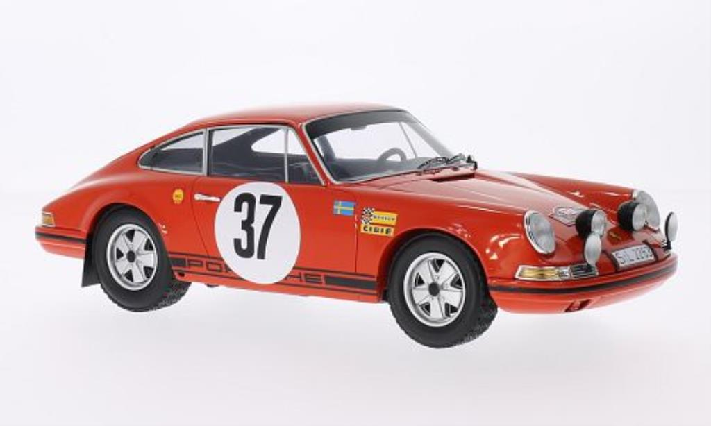 Porsche 911 1/18 Spark No.37 Rally Monte Carlo 1969 /L.Helmer diecast model cars