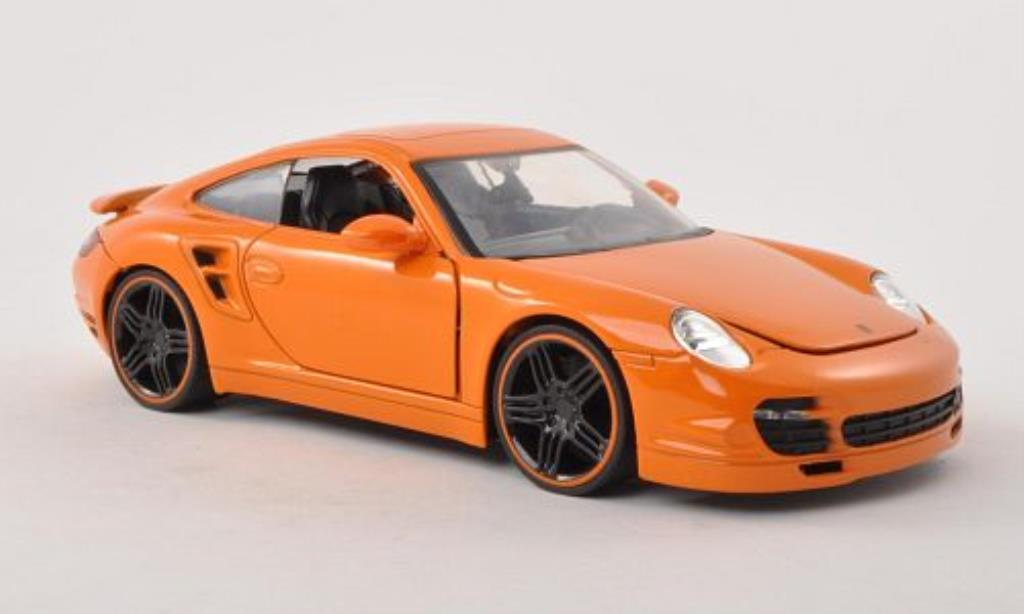 Porsche 997 1/24 Jada Toys Toys orange 2007 miniature