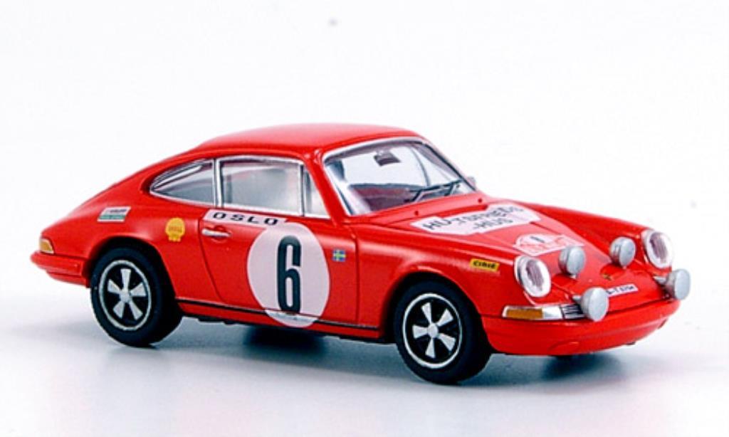 Porsche 911 1/87 Brekina red Sieger Rallye Monte Carlo 1970 diecast model cars