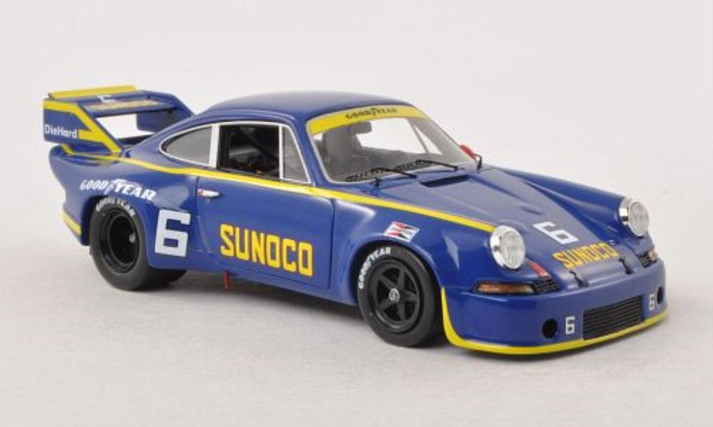 Porsche 911 RSR 1/43 Spark 2.8 No.6 Sunoco Can-Am Watkins Glen 1973 /M.Donohue miniature