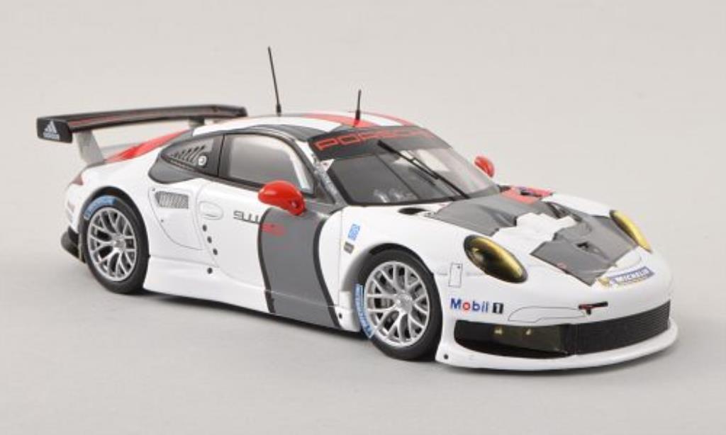 Porsche 991 R 1/43 Spark blanche/rouge/grise Testfahrzeug 2013 miniature