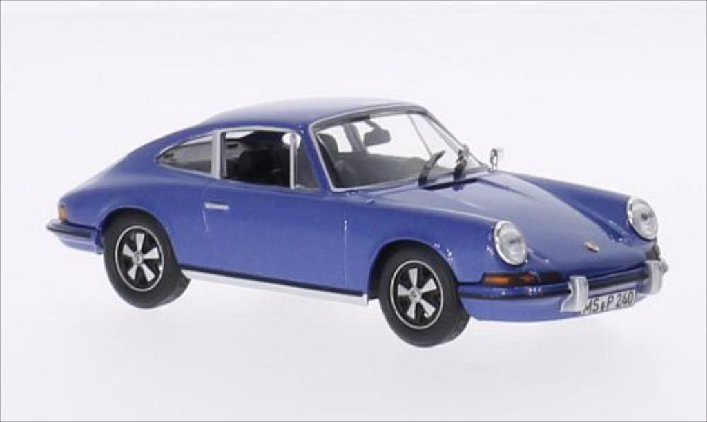 Porsche 911 S 1/43 Norev 2.4 metallise bleu 1973 miniature
