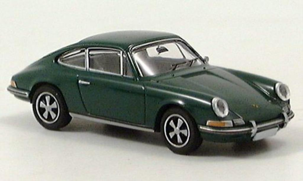 Porsche 911 S 1/87 Brekina Coupe verte miniature