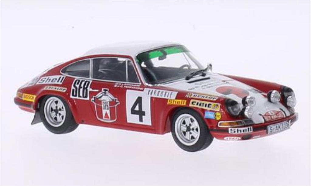 Porsche 911 S 1/43 Minichamps No.4 SEB Rallye WM Rally Monte Carlo 1972 /C.Perramond