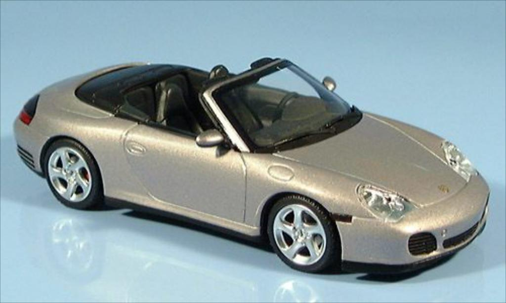 Porsche 996 S 1/43 Minichamps 4 Cabriolet metallise grise CA 2003