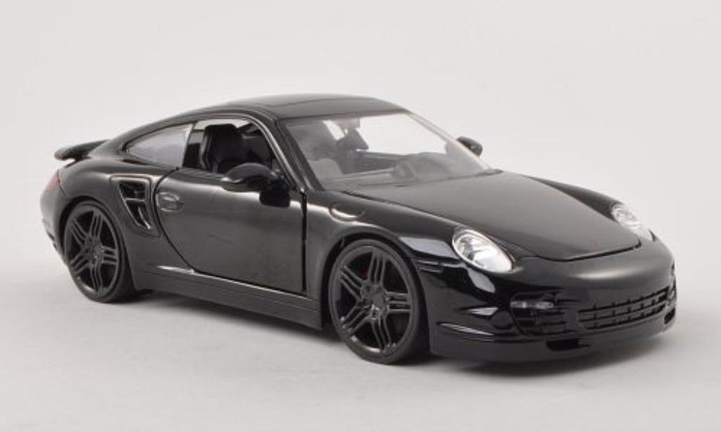 Porsche 997 S 1/24 Jada Toys Toys black 2007 diecast model cars