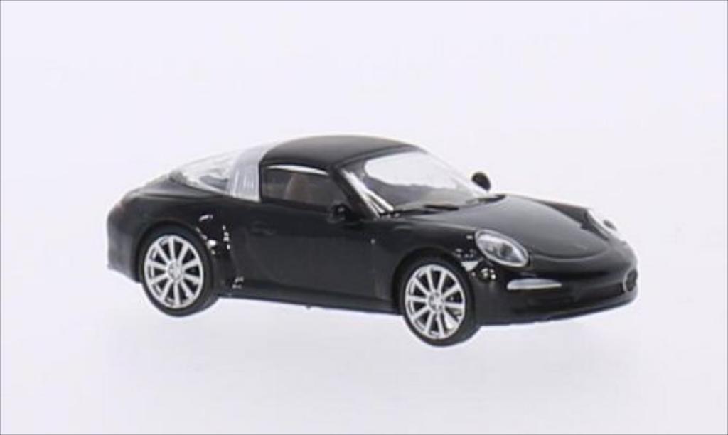 Porsche 991 Targa 1/87 Schuco 4S metallise black diecast model cars