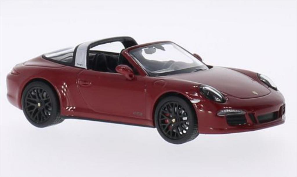 Porsche 911 Targa 1/43 Minichamps 4S GTS rouge miniature