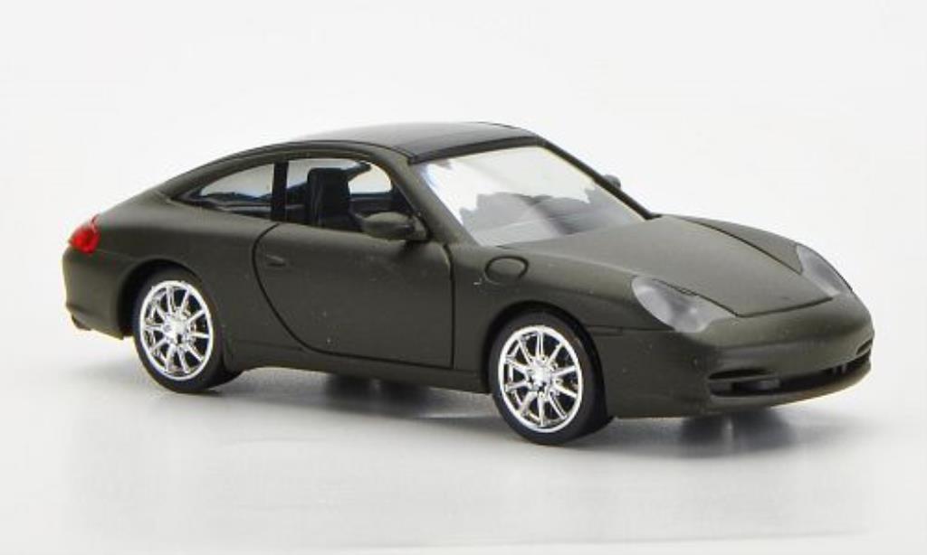 Porsche 996 1/87 Herpa Targa mattoliv mit Chromfelgen miniature