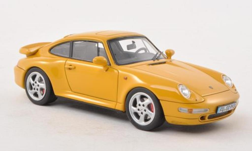 Porsche 993 Turbo Miniature Jaune Mcw 1 43 Voiture