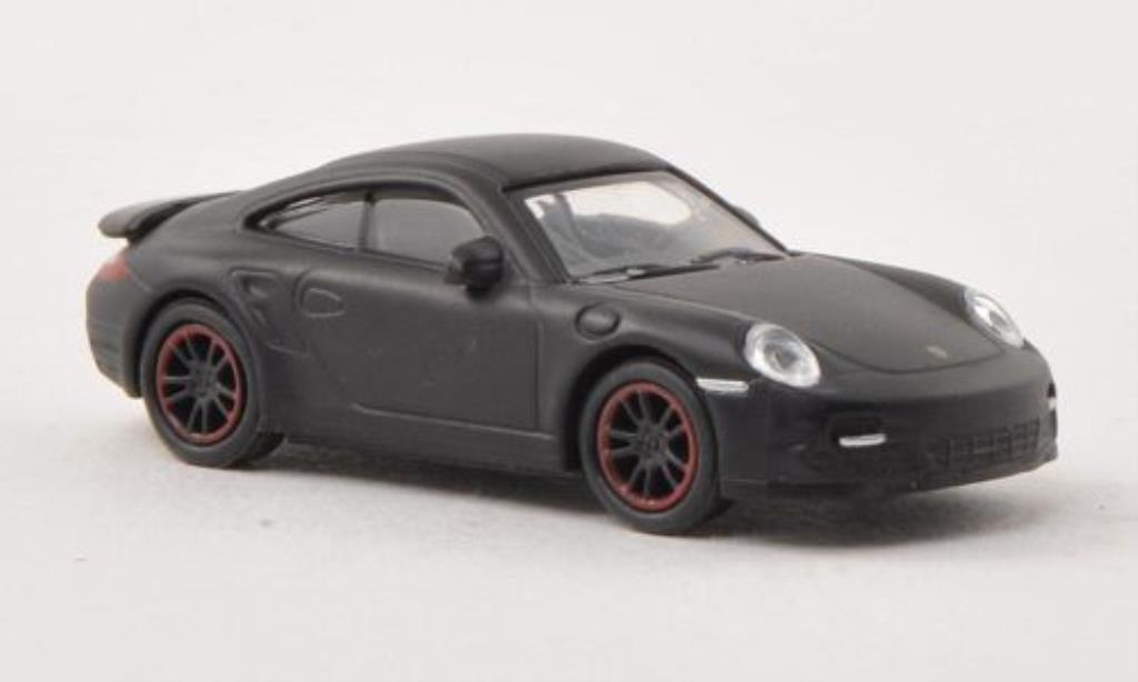 Porsche 997 Turbo 1/87 Schuco mett-black diecast model cars
