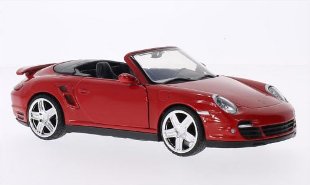 Porsche 997 Turbo 1/24 Motormax Cabriolet red diecast model cars