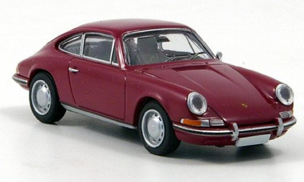 Porsche 912 1/87 Brekina Coupe dk.-red diecast model cars
