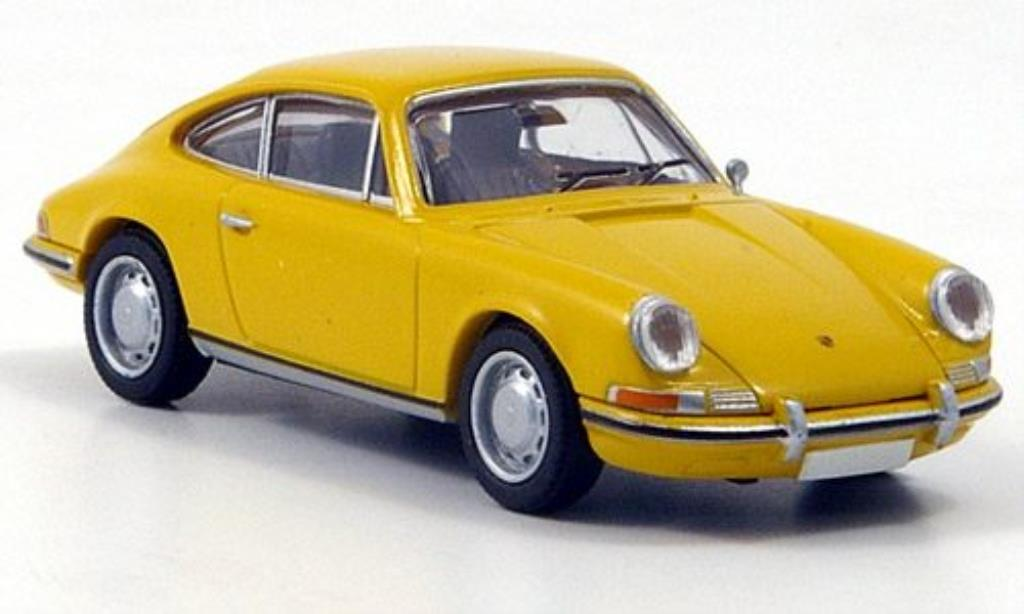 Porsche 912 1/87 Brekina Coupe yellow diecast model cars