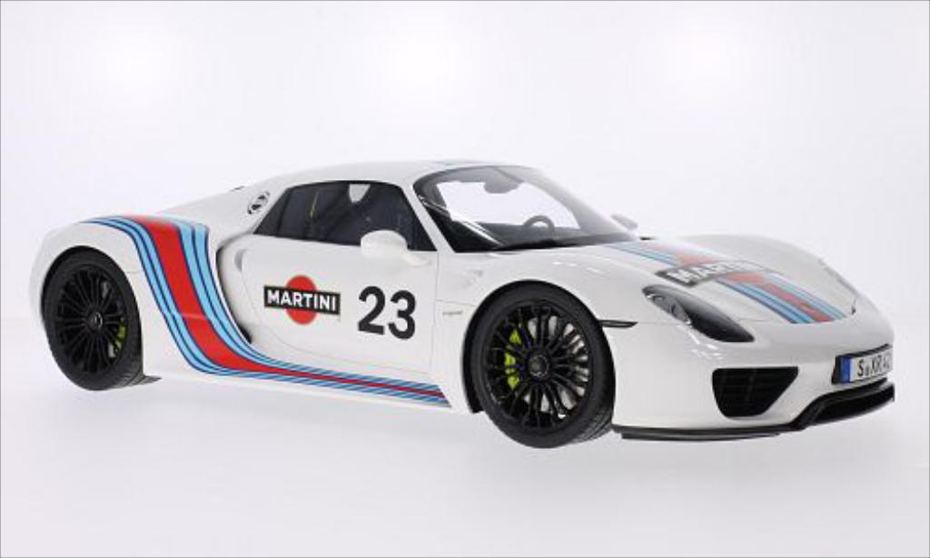 porsche 918 miniature spyder martini racing 2014 mcw 1 12 voiture. Black Bedroom Furniture Sets. Home Design Ideas